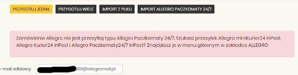 Rozwiazano Ponowna Wysylka Paczkomat I Maila Allegro Spolecznosc Allegro 36485