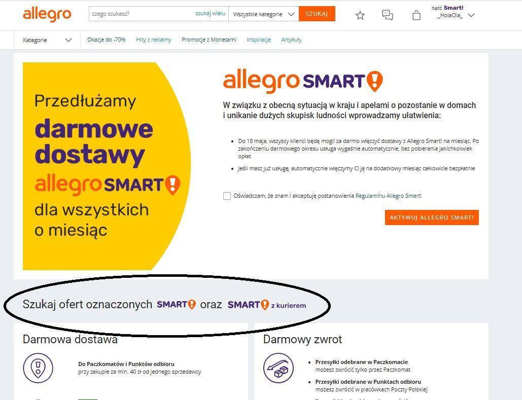 Zwrot Pieniedzy Za Allegro Smart Spolecznosc Allegro 52381