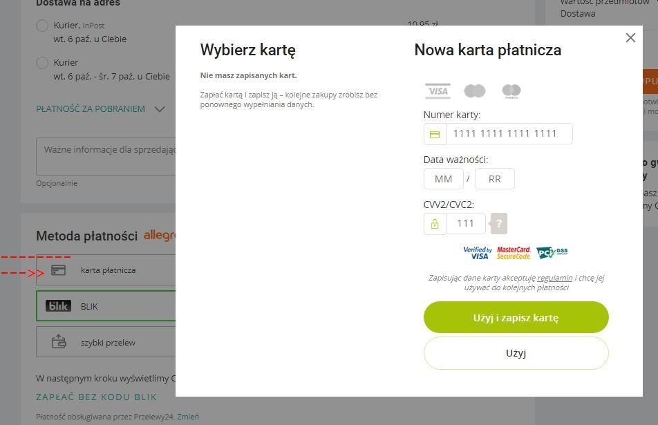 Rozwiazano Dlaczego Nie Moge Zaplacic Karta Spolecznosc Allegro 96324