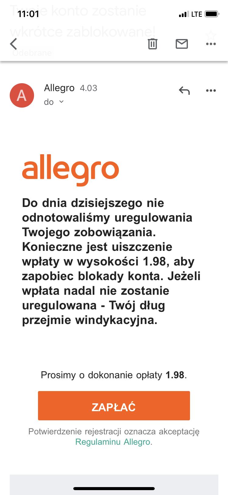 Uwaga Oszusci Spolecznosc Allegro 4508