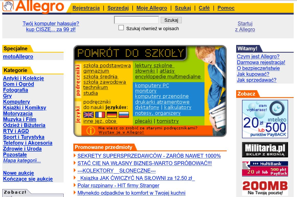 Szablon Stare Wygladu Allegro Uklad Strony Czcionki Ikonki Spolecznosc Allegro 110252