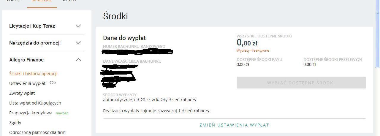 Rozwiazano Nieaktywne Wyplaty Pomimo Aktywnych Payu Oraz Przelewy24 Spolecznosc Allegro 130172
