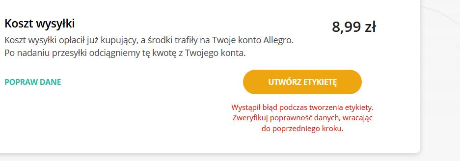 Rozwiazano Mam Problem Z Utworzeniem Etykiety Do Allegro Inpost Z Allegro Lokalnie Strona 3 Spolecznosc Allegro 123645