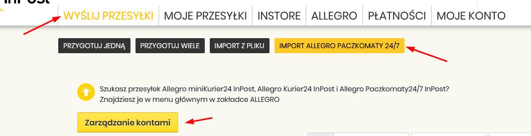 Rozwiazano Komunikat Na Inpost Upewnij Sie Ze Polaczyles Konto Na Stronie Allegro Co Zrobic Spolecznosc Allegro 3884