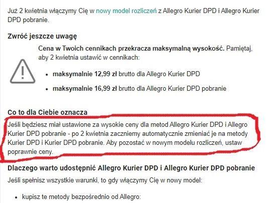 Dpd Allegro Problem Spolecznosc Allegro 22094
